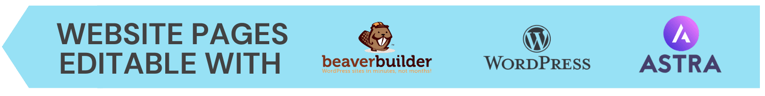 editable with wordpress and beaver builder